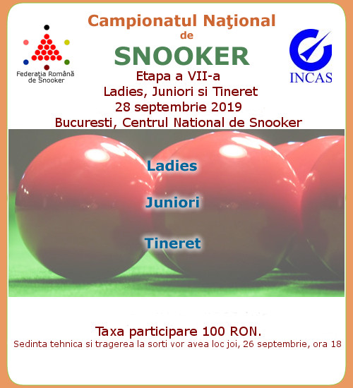 Campionat National de Snooker 2019